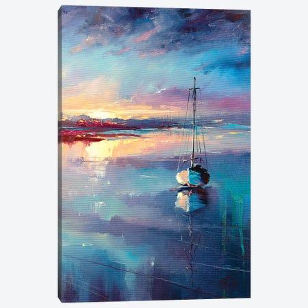 Blue Sailing Canvas Print #BZH7} by Bozhena Fuchs Canvas Print