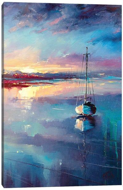 Blue Sailing Canvas Art Print