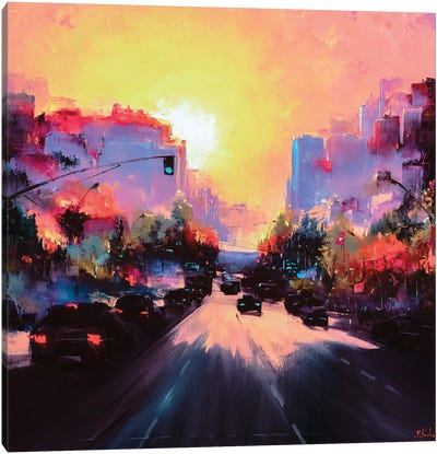 The Road Home Canvas Art Print