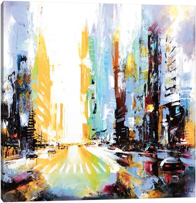 Vibrant Morning In The City N1 Canvas Art Print