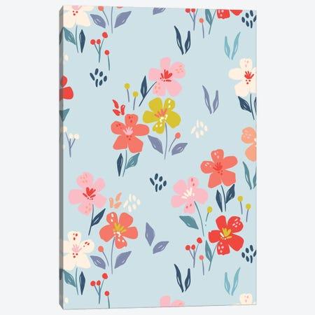 Bright Blossom III Canvas Print #CAA107} by Caroline Alfreds Canvas Artwork