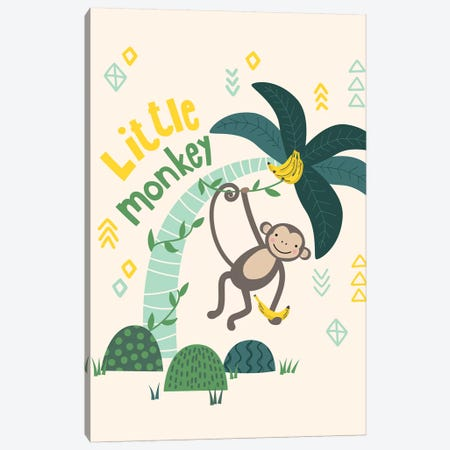 Little Monkey II Canvas Print #CAA32} by Caroline Alfreds Canvas Wall Art