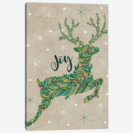 Christmas Deck The Halls I Canvas Print #CAA40} by Caroline Alfreds Art Print