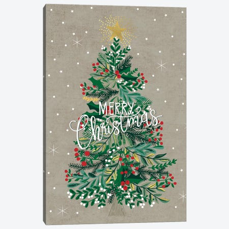 Christmas Deck The Halls IV Canvas Print #CAA43} by Caroline Alfreds Canvas Print