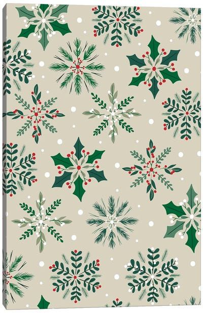 Christmas Deck The Halls V Canvas Art Print