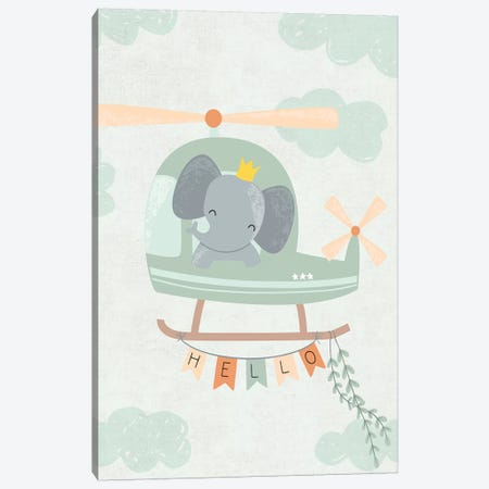 Baby Adventure Awaits I Canvas Print #CAA47} by Caroline Alfreds Canvas Artwork