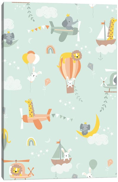 Baby Adventure Awaits V Canvas Art Print