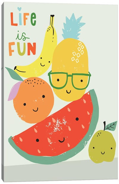 Fruity Fun II Canvas Art Print