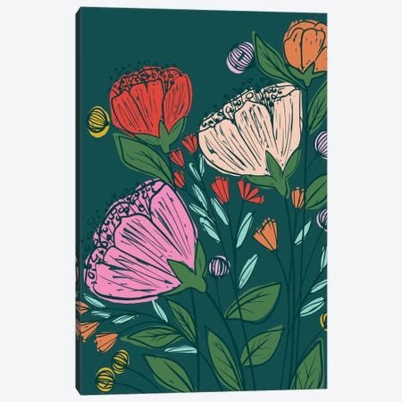 Everyday Flower Fields Canvas Print #CAA66} by Caroline Alfreds Canvas Art