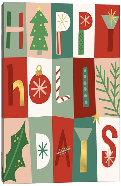 Happy Holidays I Canvas Art Print