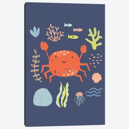 Under The Sea V Canvas Print #CAA91} by Caroline Alfreds Canvas Artwork