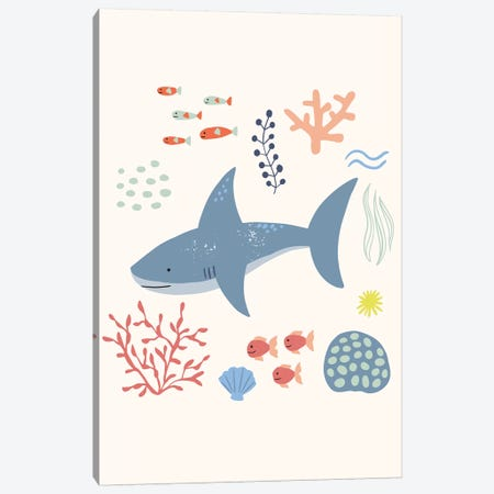 Under The Sea VI Canvas Print #CAA92} by Caroline Alfreds Canvas Wall Art