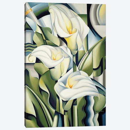 Cubist Lilies Canvas Print #CAB10} by Catherine Abel Art Print
