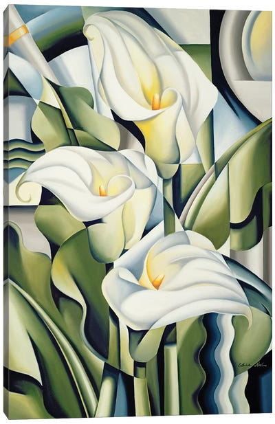 Cubist Lilies Canvas Art Print