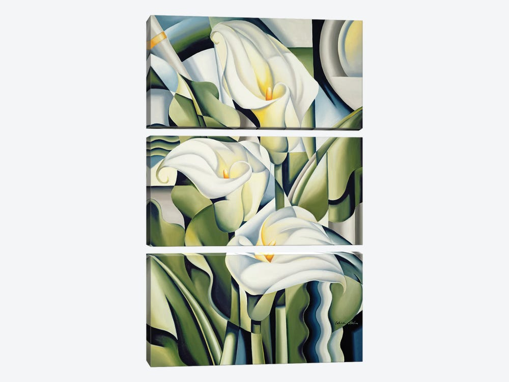 Cubist Lilies by Catherine Abel 3-piece Canvas Print
