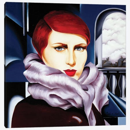 European Winter Canvas Print #CAB11} by Catherine Abel Canvas Print
