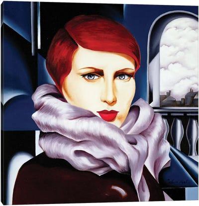 European Winter Canvas Art Print