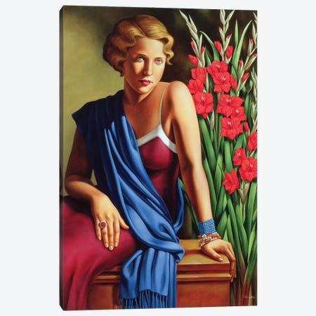 Girl With The Scarab Ring Canvas Print #CAB16} by Catherine Abel Canvas Wall Art
