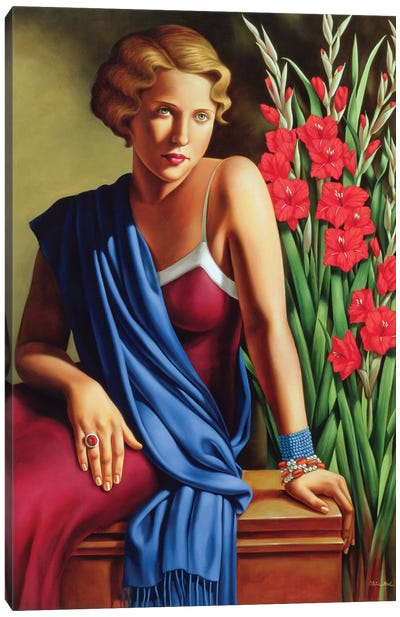 Girl With The Scarab Ring Canvas Art Print