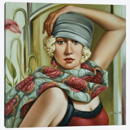 Grey Cloche Canvas Print #CAB18} by Catherine Abel Art Print