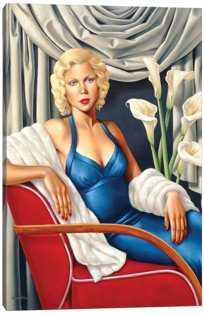 Homage To Harlow Canvas Art Print