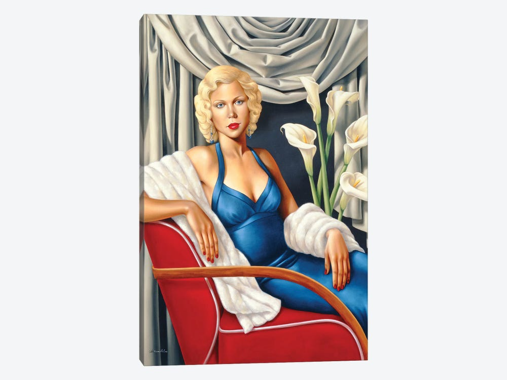 Homage To Harlow by Catherine Abel 1-piece Canvas Wall Art
