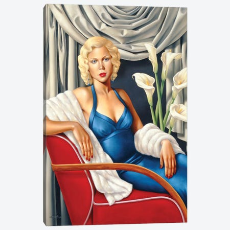 Homage To Harlow Canvas Print #CAB19} by Catherine Abel Canvas Print