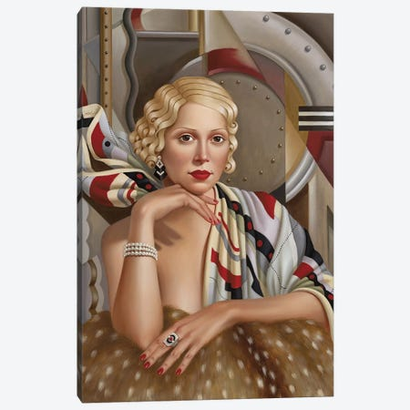 La Femme En Soie Canvas Print #CAB21} by Catherine Abel Canvas Art