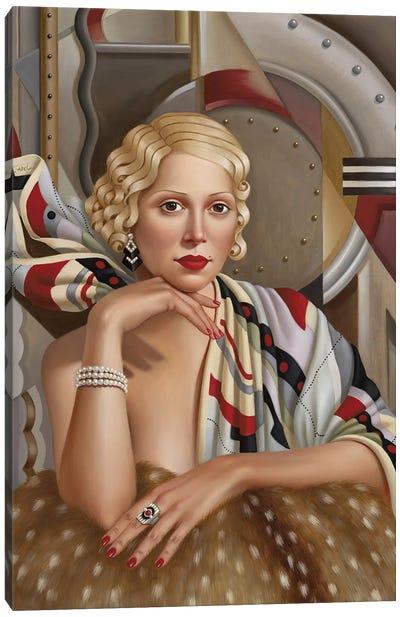 La Femme En Soie Canvas Art Print