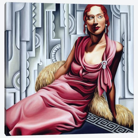 La Vie En Rose Canvas Print #CAB23} by Catherine Abel Canvas Wall Art