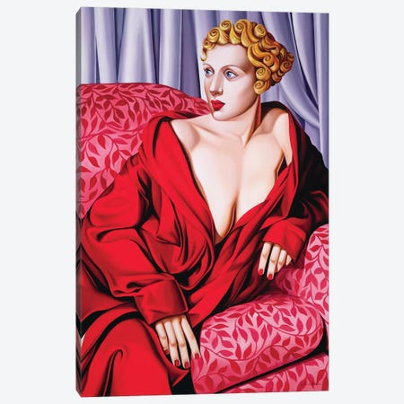 Red Kimono Canvas Print #CAB25} by Catherine Abel Art Print