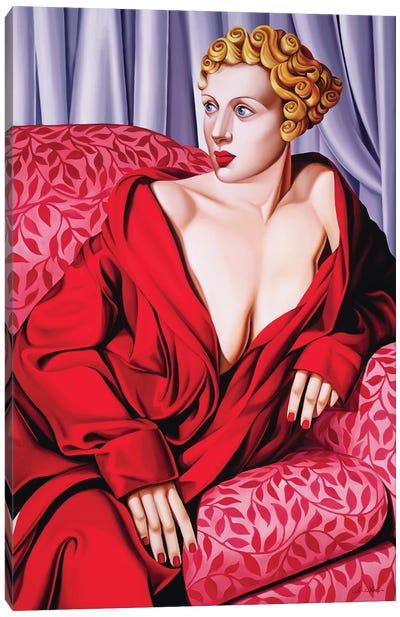 Red Kimono Canvas Art Print