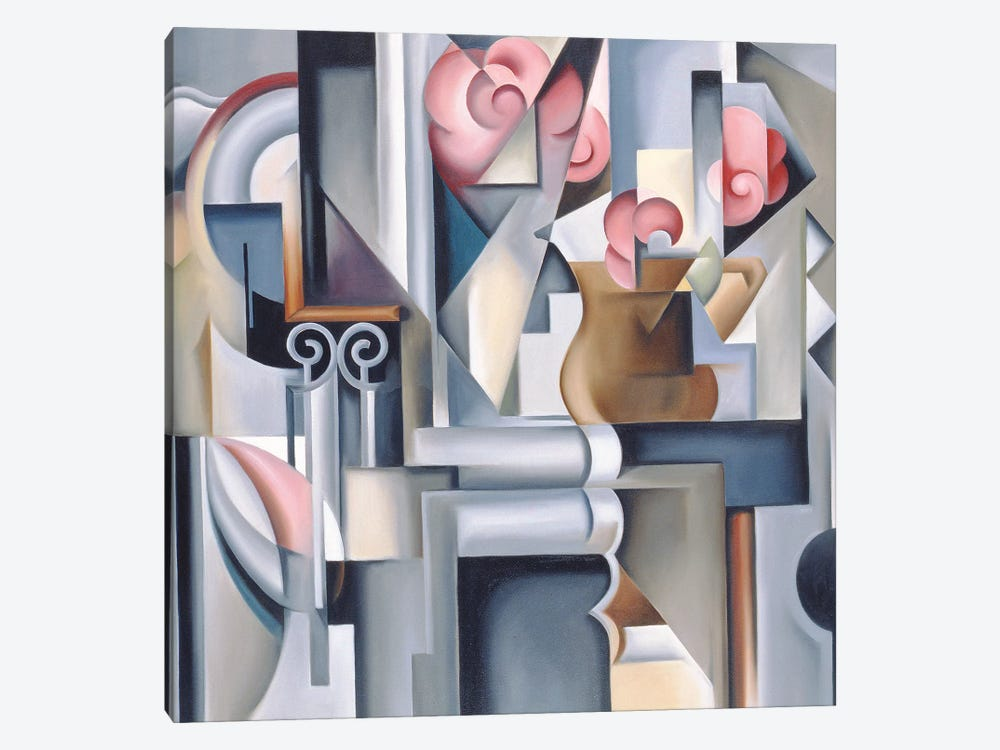 Still Life With Roses by Catherine Abel 1-piece Canvas Print