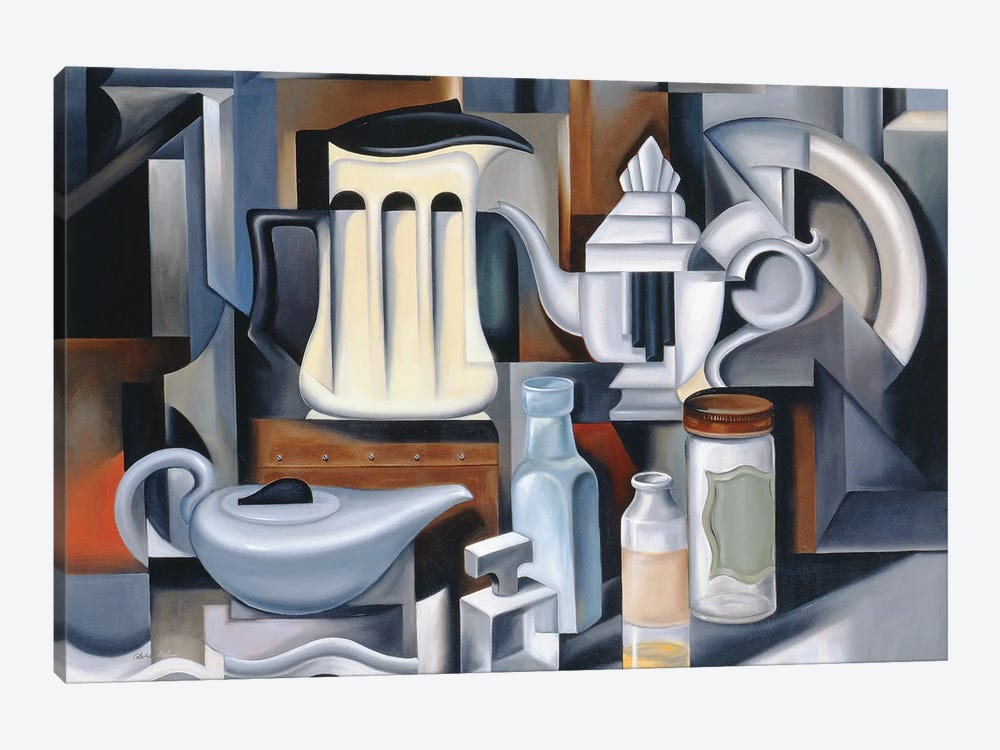 Still Life With Teapots by Catherine Abel 1-piece Canvas Art