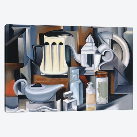 Still Life With Teapots Canvas Print #CAB28} by Catherine Abel Canvas Art