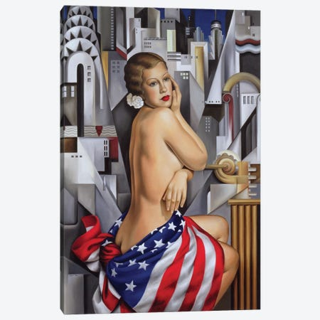 The Beauty Of Her Canvas Print #CAB31} by Catherine Abel Canvas Print