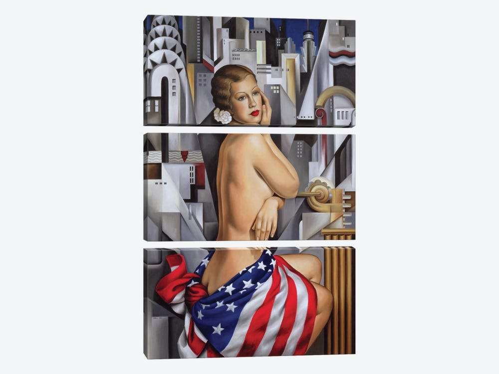 The Beauty Of Her by Catherine Abel 3-piece Canvas Art
