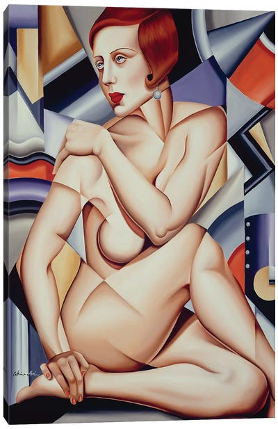 Cubist Nude  Canvas Art Print