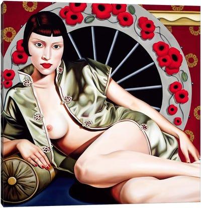 Golden Poppy Hour  Canvas Art Print