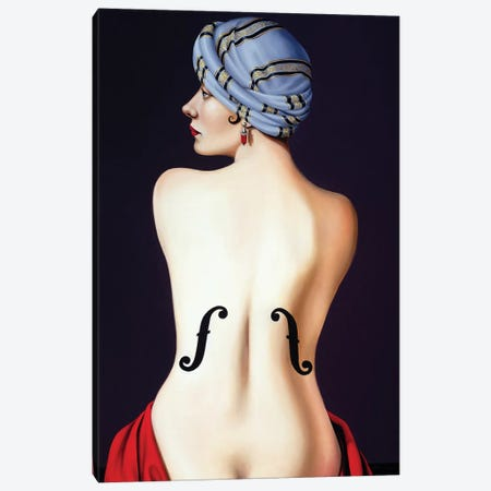 Homage to Man Ray  Canvas Print #CAB38} by Catherine Abel Art Print