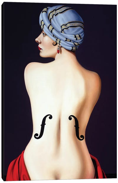 Homage to Man Ray  Canvas Art Print