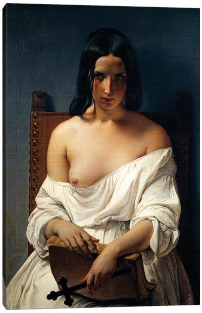 Meditation, Italy in 1848, 1851 Canvas Art Print