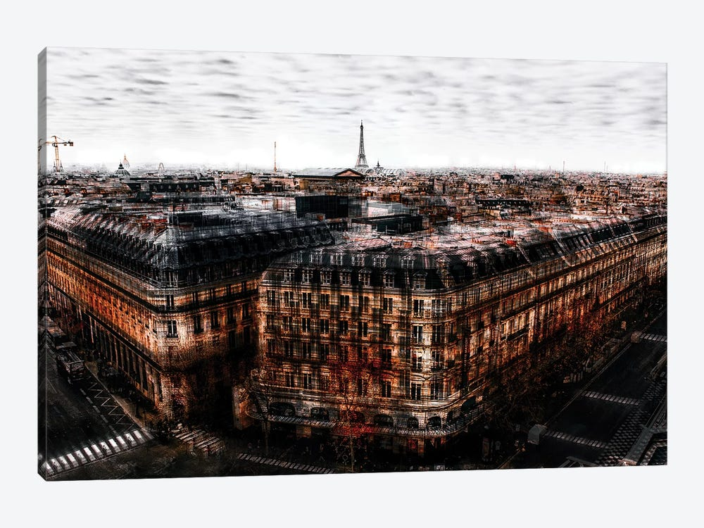 On The Roofs Of Paris by Carmine Chiriaco 1-piece Art Print