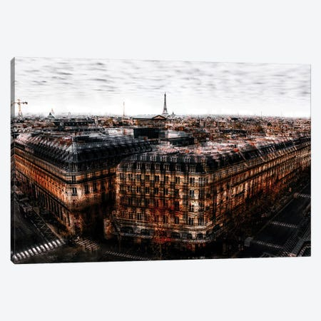 On The Roofs Of Paris Canvas Print #CAC11} by Carmine Chiriaco Canvas Artwork