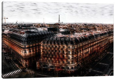 On The Roofs Of Paris Canvas Art Print