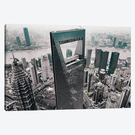 Shanghai World Financial Center Canvas Print #CAC15} by Carmine Chiriaco Canvas Art Print
