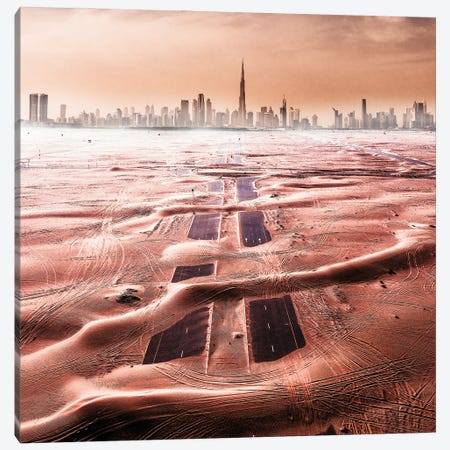 Roads Of The Desert Canvas Print #CAC18} by Carmine Chiriaco Canvas Wall Art