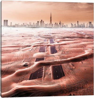 Roads Of The Desert Canvas Art Print