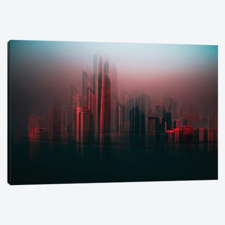 Abu Dhabi Skyline Canvas Print #CAC2} by Carmine Chiriaco Art Print