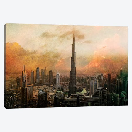 Burj Khalifa 3-Piece Canvas #CAC9} by Carmine Chiriaco Canvas Print